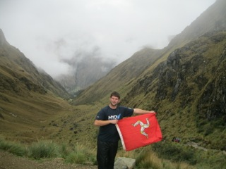 Manx Youth 'Ambassador to Peru'.