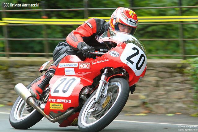 Allan Brew Aermacchi 350 Isle of Man