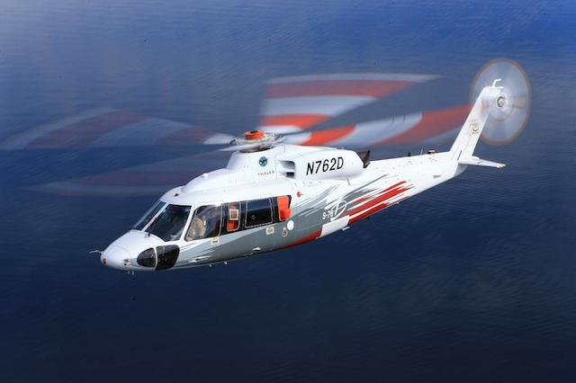 Sikorsky S-76D VIP Helicopter. Review from the 2014 HAI Heli-Expo, California.