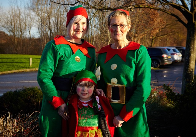 Wakefield Hospice 'Santa Dash'. Helicopter arrival at Pugneys Country Park.