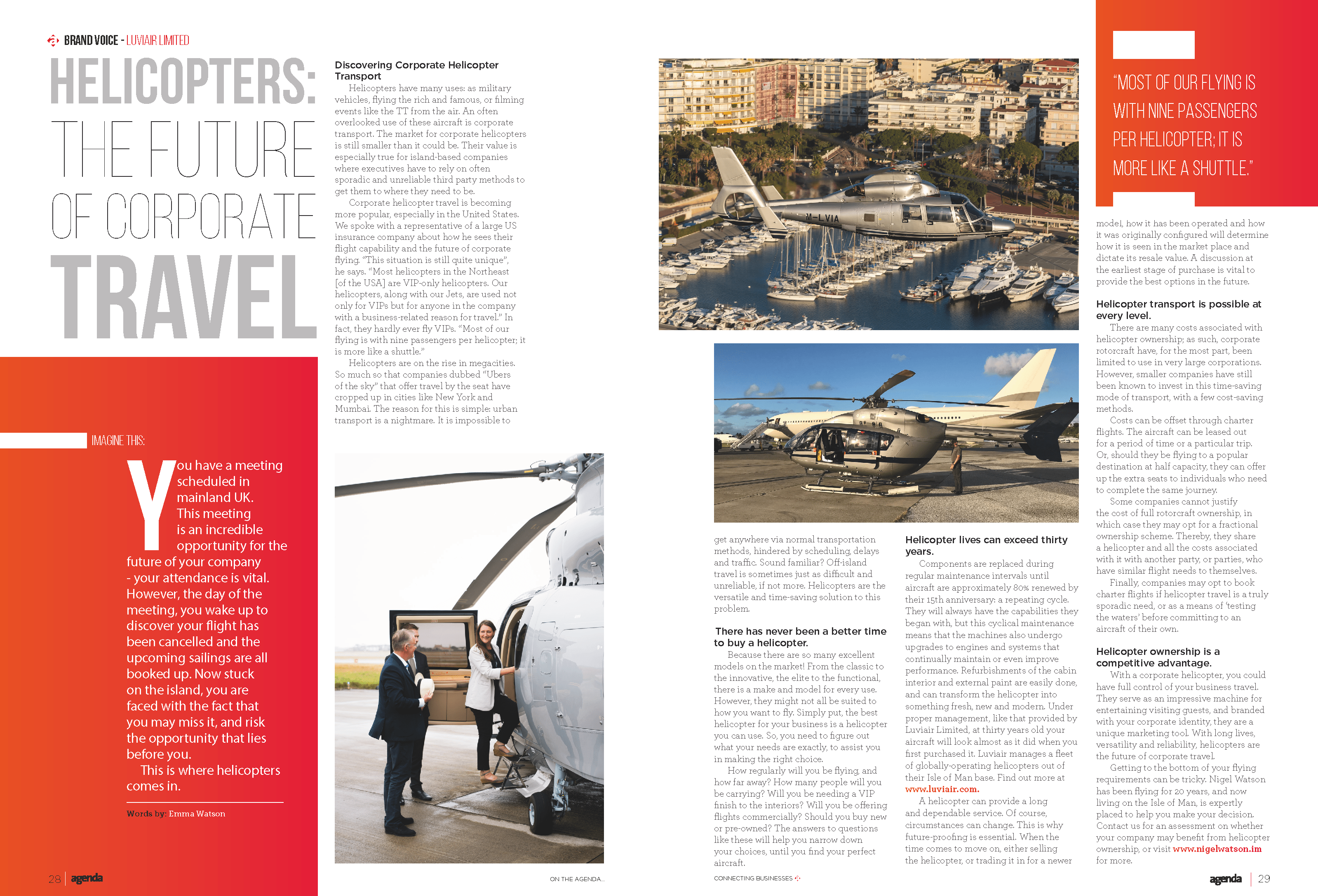 Helicopters : The Future of Corporate Travel
